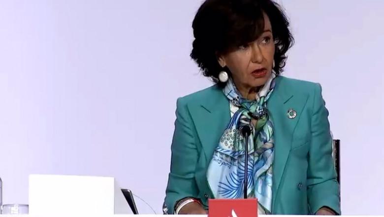 ep la presidenta de banco santander ana patricia botin en la junta general de accionistas celebrada