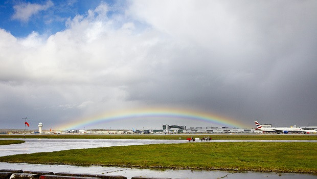 gatwick airport rainbow