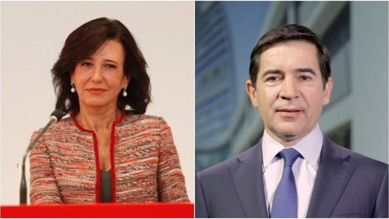 ep archivo   la presidenta del banco santander ana botin y el presidente del bbva carlos torres