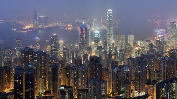 hong kong kowloon peninsula skyline night city