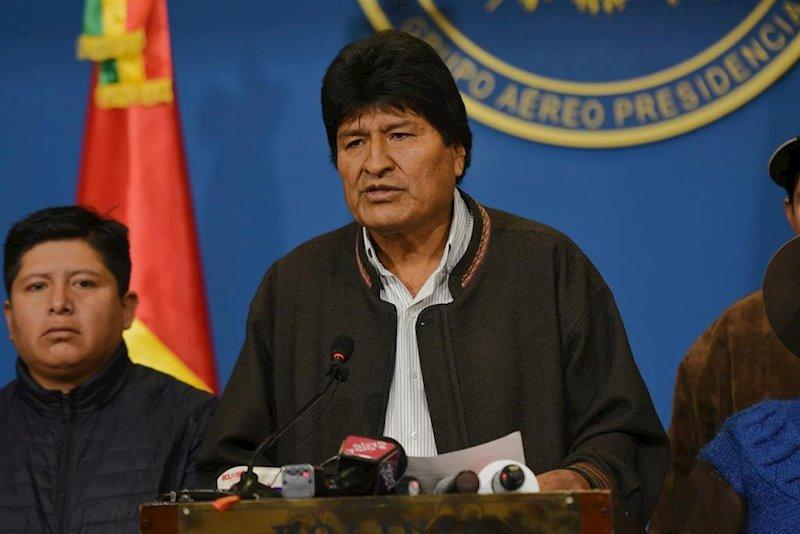 ep el presidente de bolivia evo morales