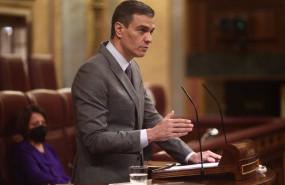 ep el presidente del gobierno pedro sanchez interviene durante una sesion plenaria a 14 de abril de