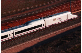 ep imagen de archivo de un tren de alta velocidad ave