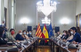 ep vista general de los asistentes que participan en la comision bilateral generalitat de catalunya