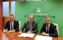 ep firma del contrato de suministro electrico con la presencia del director general de endesa en