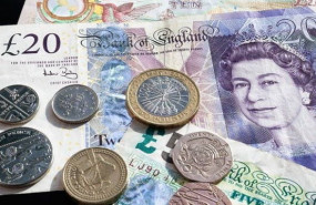 dl finance cash pounds sterling money finance coins coin banknote