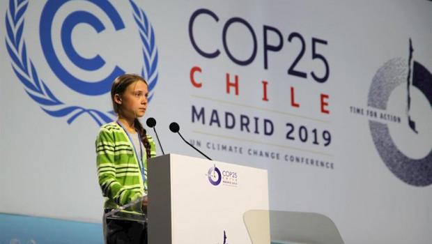 ep handout - 11 december 2019 spain madrid swedish climate activist greta thunberg attends an event