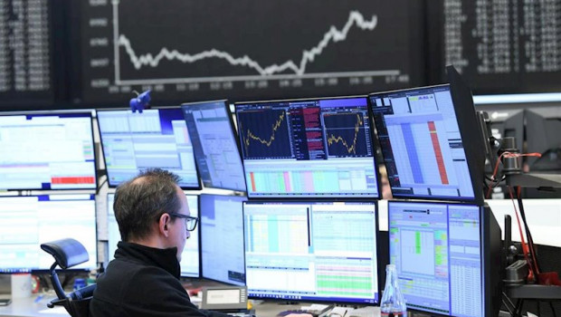 ep main a estoc trader sits in front of his monitors in the trading room of the frankfurt estoc
