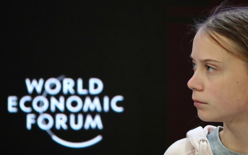 Greta Thunberg, en Davos: se acaba el tiempo para abordar la crisis climática