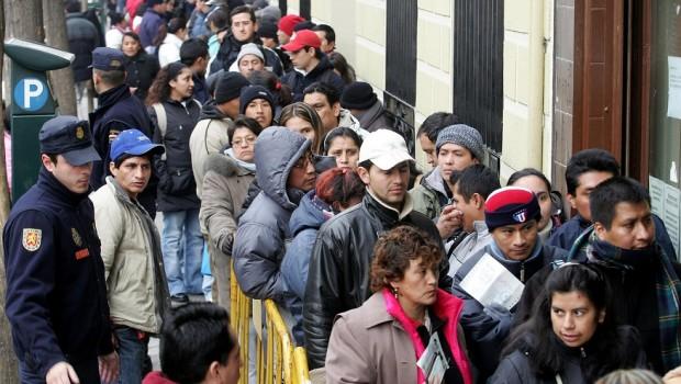 inmigrantes cola inmigracion