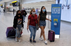 ep passengers on a flight from madrid arrive at heathrow airport