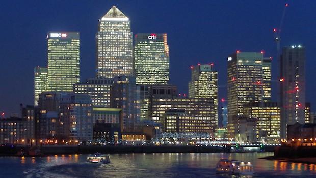 london docklands night buck