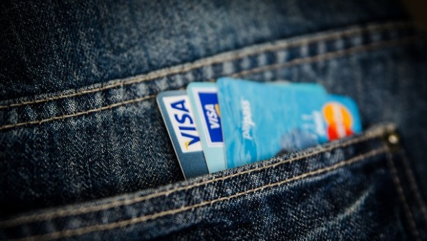 Visa, tarjeta, dinero, pago,