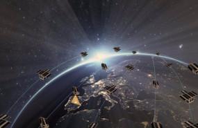 ep recreacion de la red de satelites disenada por el consorcio espanol