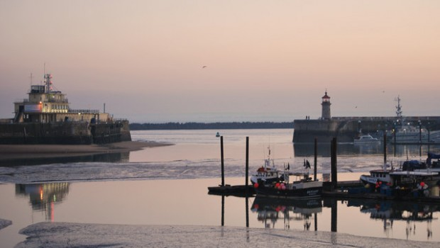 outer harbour at sunset   geograph org uk   1206011